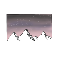 Berge Sternenhimmel Nacht