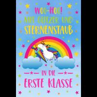 Poster Einhorn Einschulung Schule Erste Klasse