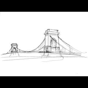 Geschenk Idee Zeichnung Brücke