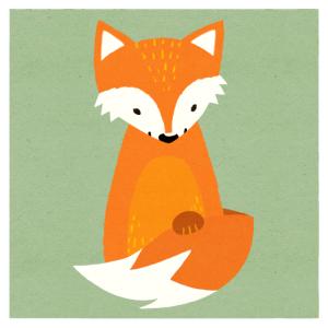 Kleiner Fuchs in Papieroptik