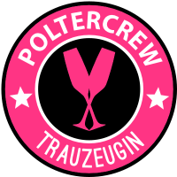 Poltercrew Wappen - Trauzeugin - T-Shirt Set