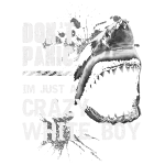 Crazy white boy Great shark