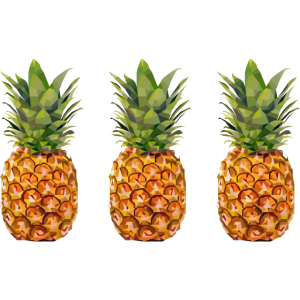 drei Ananas