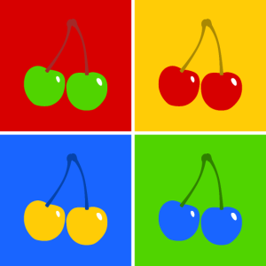 Kirschen Pop-Art