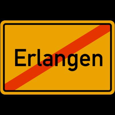 Erlangen Ortsausgangsschild - Erlangen, Ortsausgangsschild, Geschenkidee - Geschenkidee,Ortsausgangsschild,Erlangen,Bayern,Mittelfranken