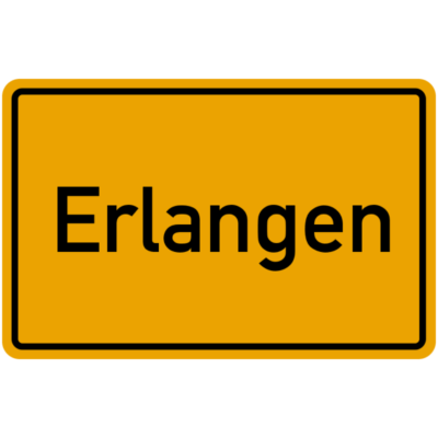 Erlangen, - Erlangen, Ortseingangsschild, Geschenkidee - Geschenkidee Mittelfranken Bayern,Ortseingangsschild,Erlangen