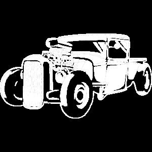 Vintage Hot Rod Silhouette - Schrauber Tuning