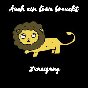 Löwe braucht Zuneigung! Geschenk Lion Idee