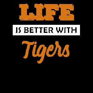 Tiger Raubtier Tier Geschenk Idee