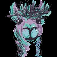 Alpaka Llama Purple