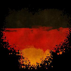 Deutschland Fahne Splatter Fleck Splash Spritzer