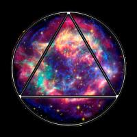 Kreis Dreieck Weltall Geschenk