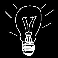 Glühbirne weiß ohne Farbe Licht Geschenk