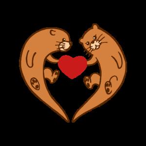 Otter mit Herz