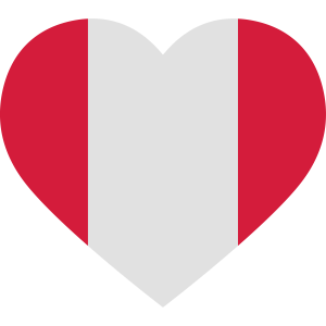 Peru Heart Flag