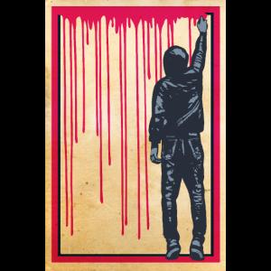 STREET ART - SPRAY BOY Poster