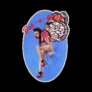 Weinlese Rockabilly Schmetterlings-Pin-up-Design
