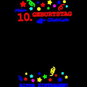 10. Geburtstag Gästeliste lustig Kinder Party Spaß