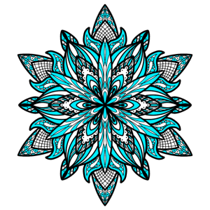 Mandala Blüte Himmelblau