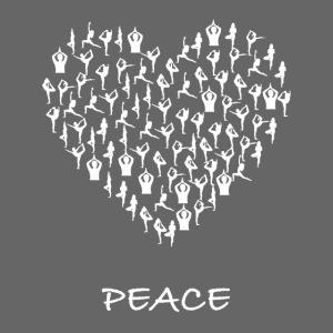 Peace Yoga Heart With Tiny Yoga Poses Meditation