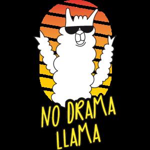 Kein Drama Lama - Sonnenbrille - Orange Gelb