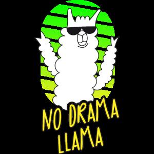 Kein Drama Lama - Sonnenbrille - Pink Grün Gelb