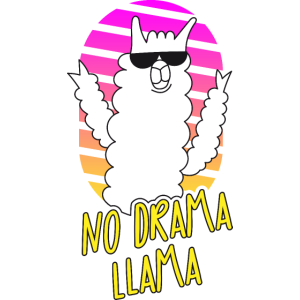 Kein Drama Lama - Sonnenbrille - Pink Gelb