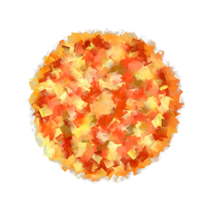 Pizza Kunst Kubismus