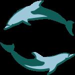 Zwei Delfine Vektor