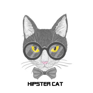 Hipster Katze. Geschenk Idee Freunde Familie