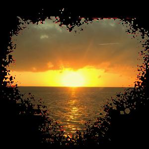 Sonnenaufgang Splatter Fleck Splash Spritzer Sonne