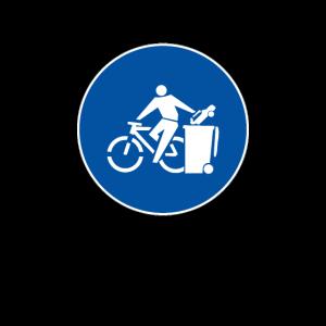NO CARS, BIKES ONLY - Verkehr - Schild