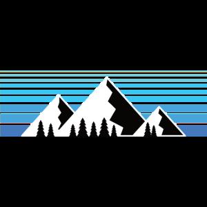 Berge im Sonnenaufgang Bergshirt & Natur Design