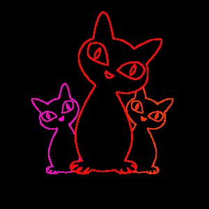 coole Katzen Silhouette Geschenk