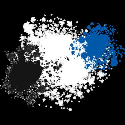 Schwarz-Weiß-Blau - Schwarz, weiß und blau sind die drei Farben des Hamburger Sportvereins. Das Motiv zeigt die drei Farben als Kleckse. - weiß,schwarz,blau,Klecks,Hamburg,Fußball