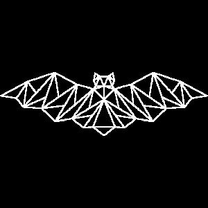 grafische Fledermaus in weiss
