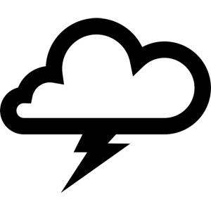 Wolke mit Blitz