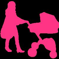 mom mom Kinderwagen Kinderwagen silhouette3