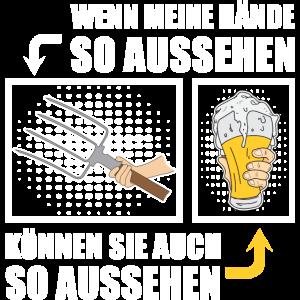 Bauer Bauernhof Shirt Geschenk Lustig Bier Premium
