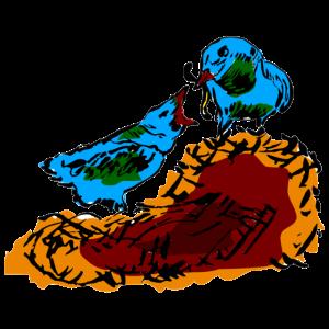 Vögel nest vogel junges küken wurm füttern mutter