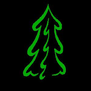 Weihnachten schlichter Tannenbaum T Shirt Geschenk