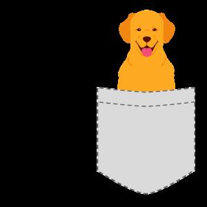 Golden Retriever Pocket Brusttasche Hund Geschenk