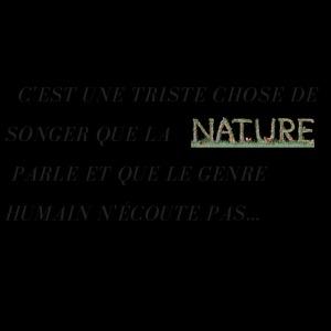 La nature et les hommes.