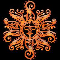 Tribal Sonne. Mittsommer, Sommer Festival.