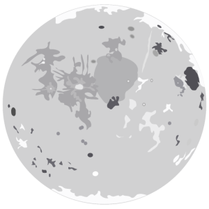 Cartoon Mond
