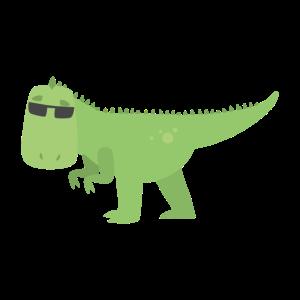 Cooler T-Rex mit Sonnenbrille