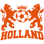 holland twee leeuwen voetbal en kroon