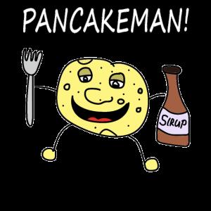 Pancakeman Eierkuchen Comic Sirup süßes essen