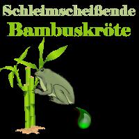 Schleimscheissende Bambuskröte   Frosch