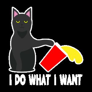 I Do What I Want Katze klasse Geschenkidee